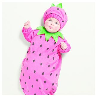 baby plush strawberry bunting costume 0 6 months hyde and eek boutique - Strawberry Halloween Costume Baby
