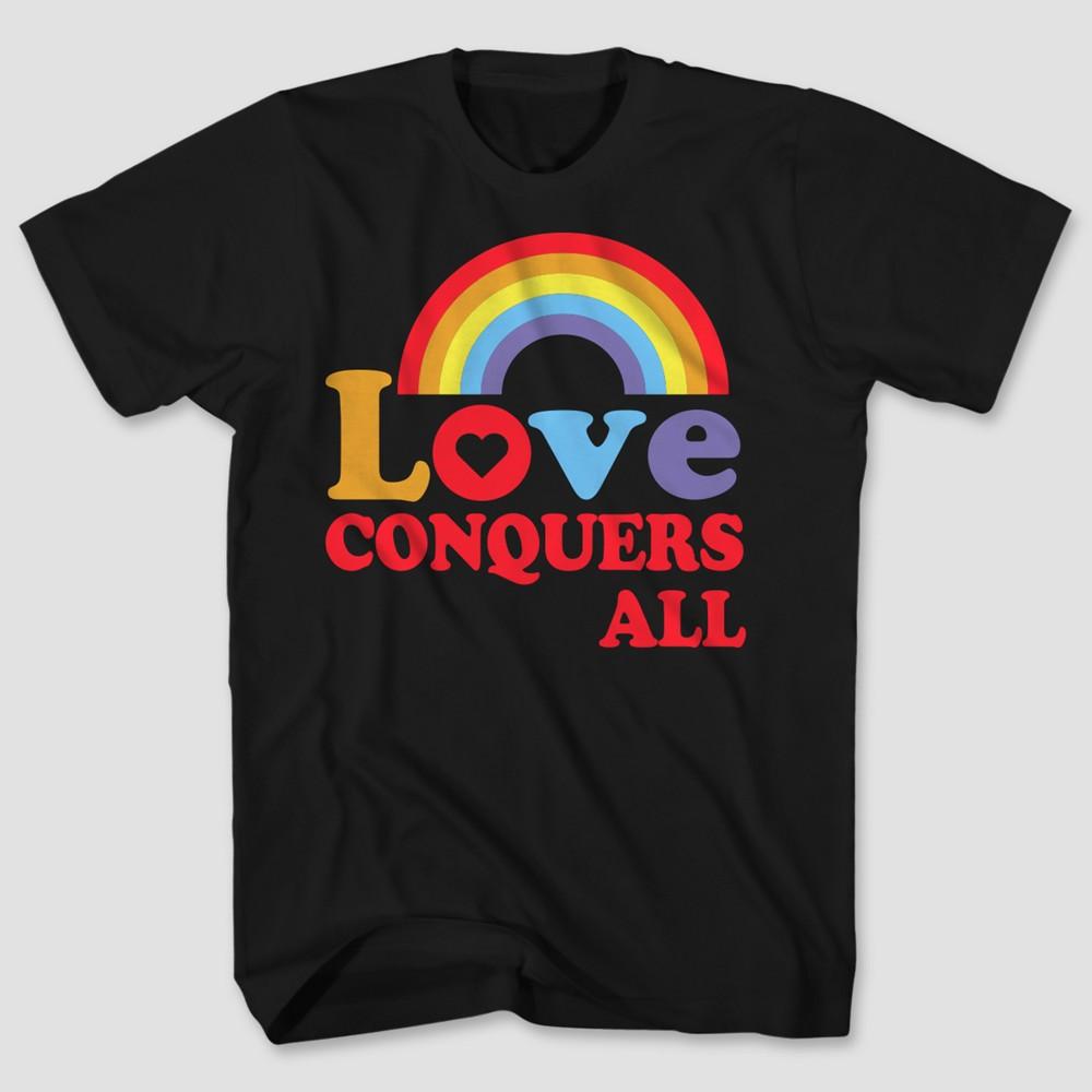 Pride Adult Love Wins T-Shirt Black LT, Mens