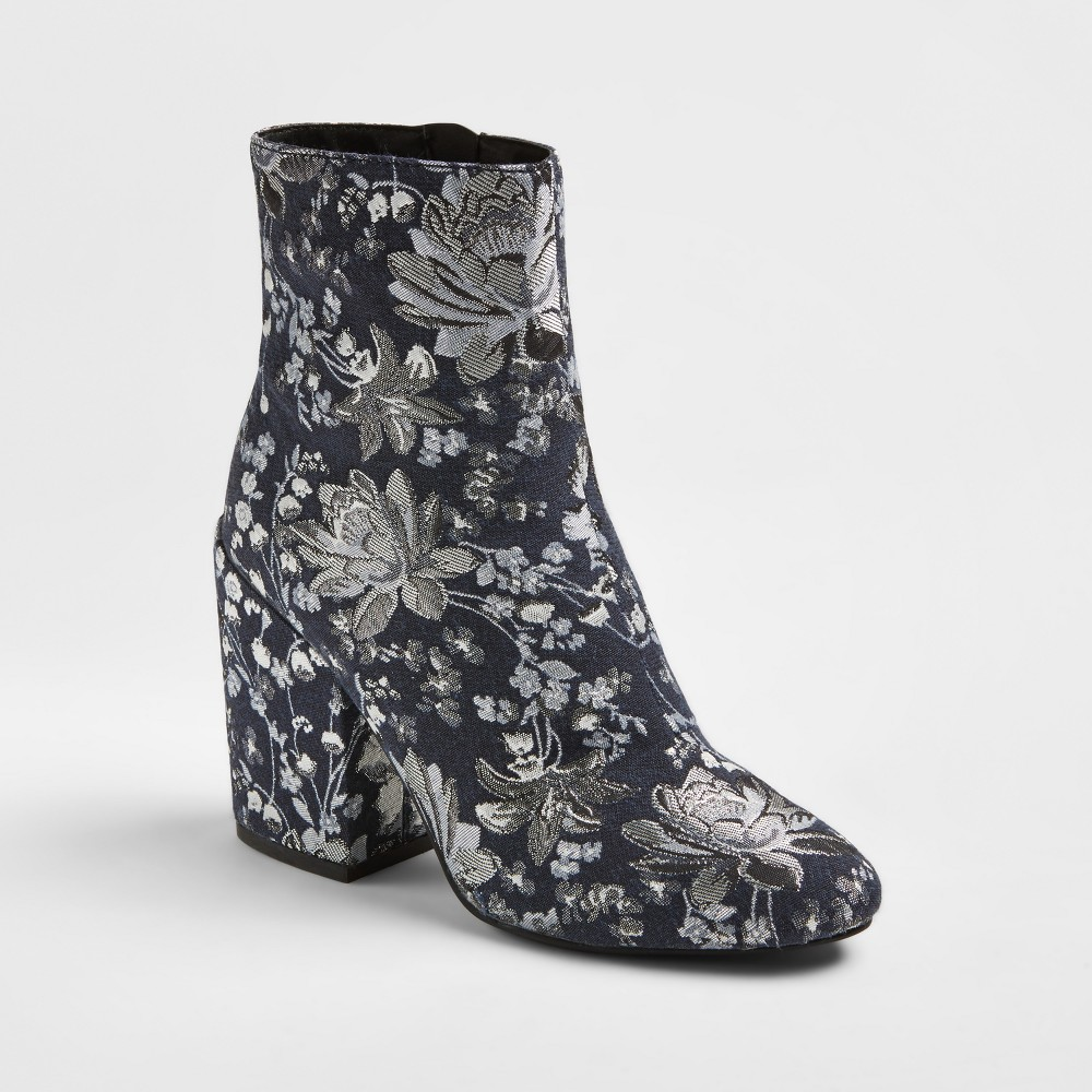 Womens Arie Brocade Booties - Merona Denim Blue 7