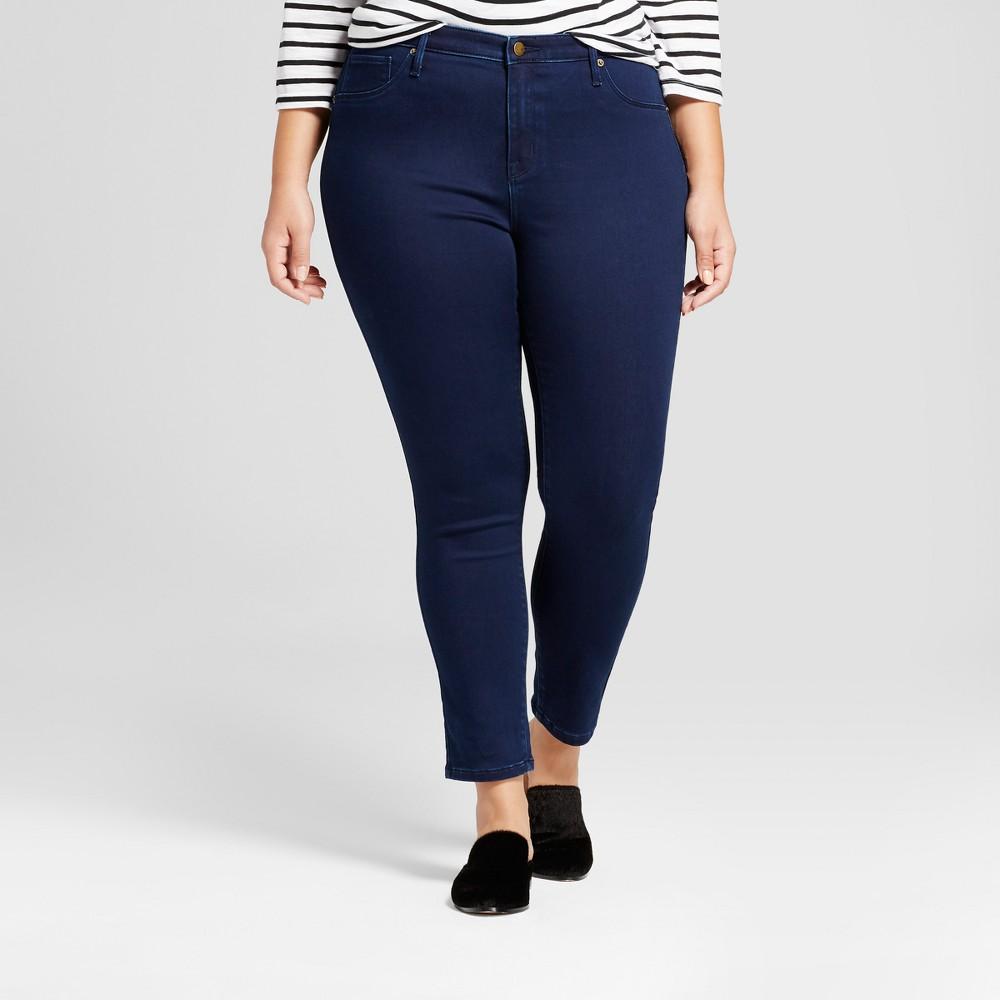 Womens Plus Size Jeggings - Ava & Viv Dark Wash 14W, Blue