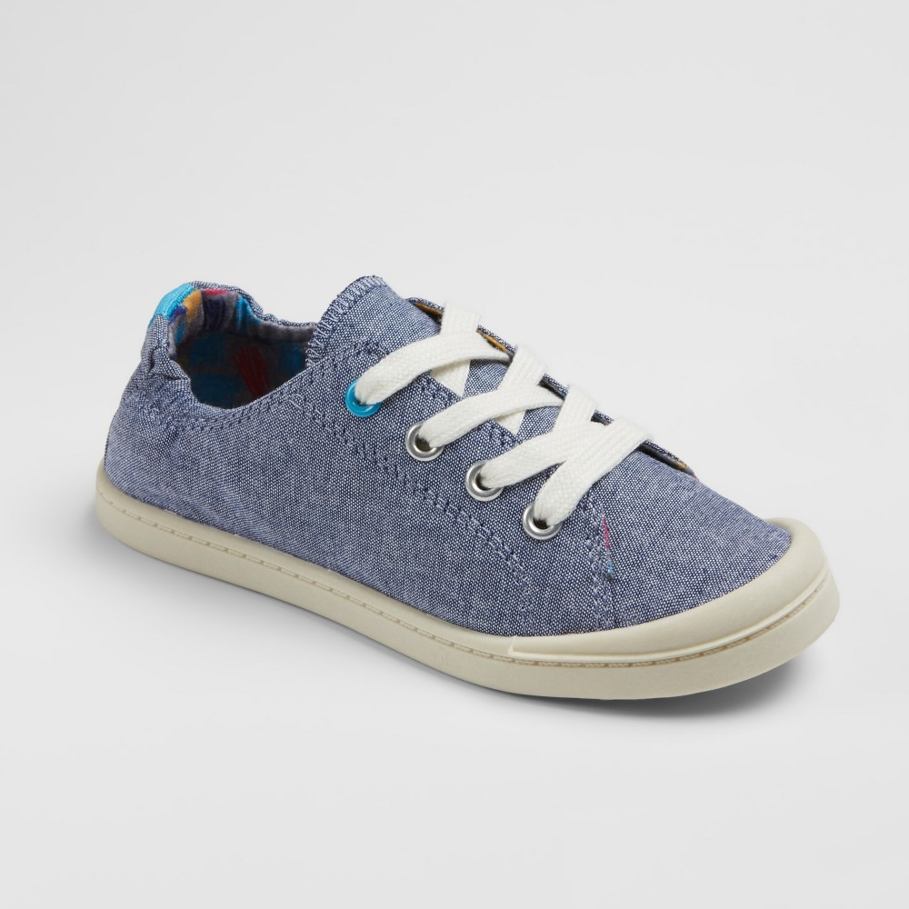 Girls Layna Chambray Scrunch Sneakers Cat & Jack - Blue 4