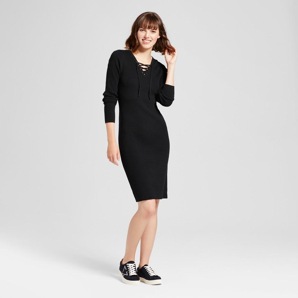 Womens Body Con Sweater Dress - Mossimo Supply Co. Black Xxl