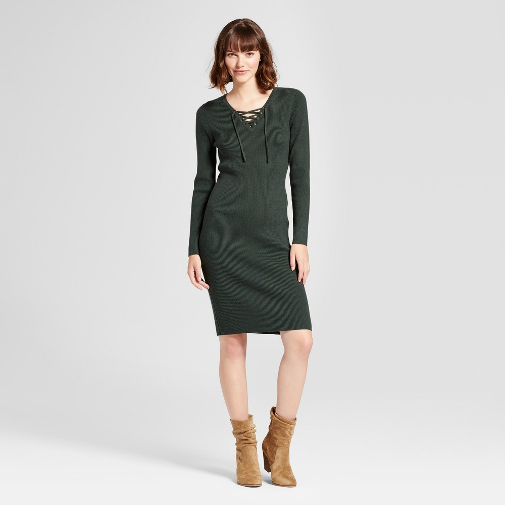 Womens Body Con Sweater Dress - Mossimo Supply Co. Green XS