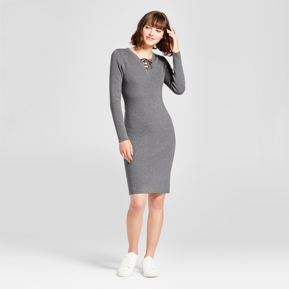Womens Body Con Sweater Dress - Mossimo Supply Co. Gray S