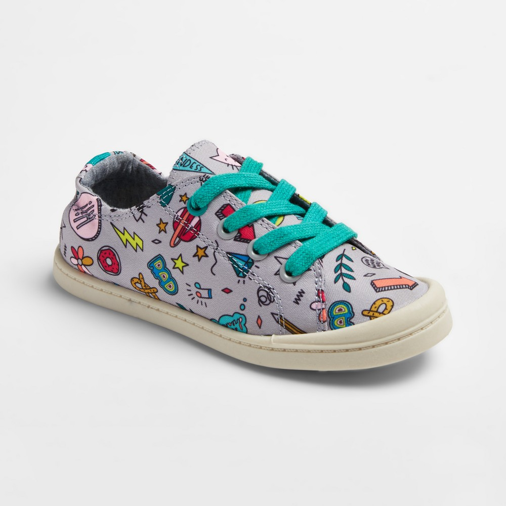 Girls Layna Printed Scrunch Sneakers Cat & Jack - Gray 4