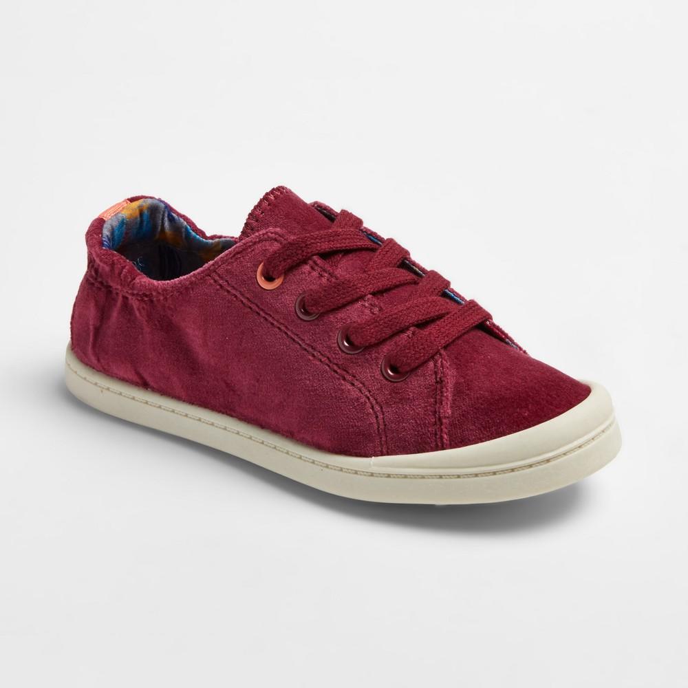 Girls Layna Velvet Scrunch Sneakers Cat & Jack - Burgundy (Red) 1