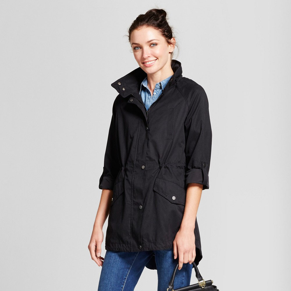 Women's Anorak Jacket - A New Day Black XS