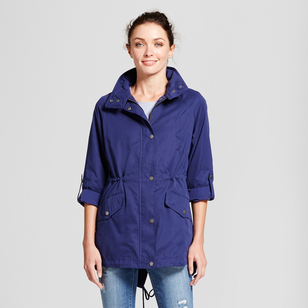 Womens Anorak Jacket - A New Day Blue L
