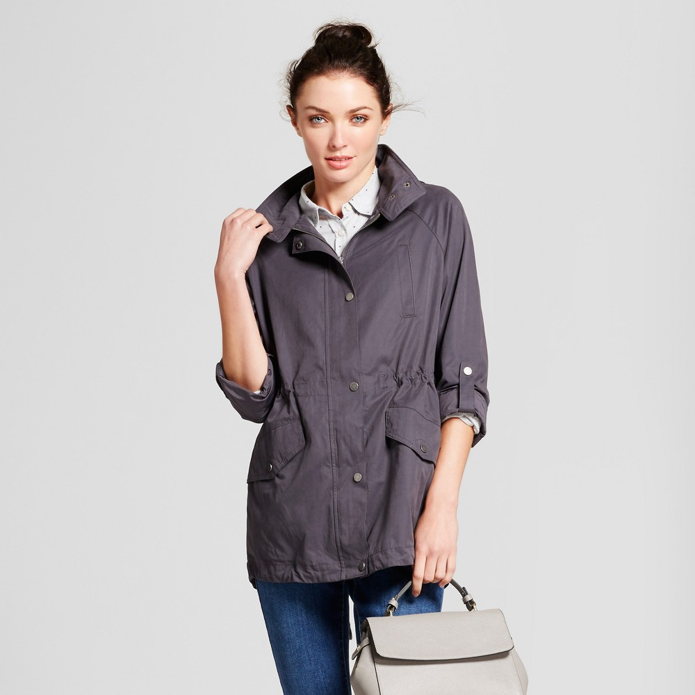 Womens Anorak Jacket - A New Day Gray M