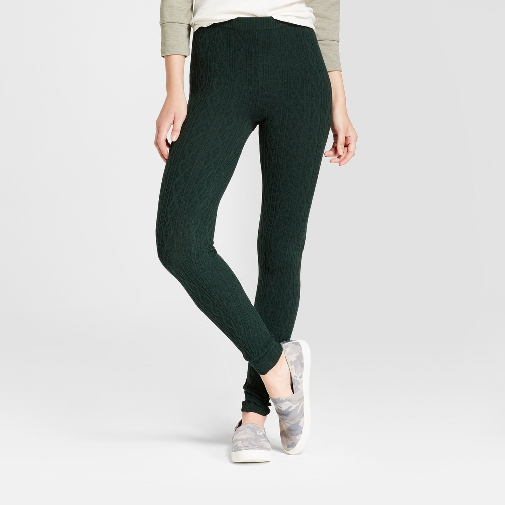 Womens Cable Sweater Leggings - Mossimo Supply Co. Green XS