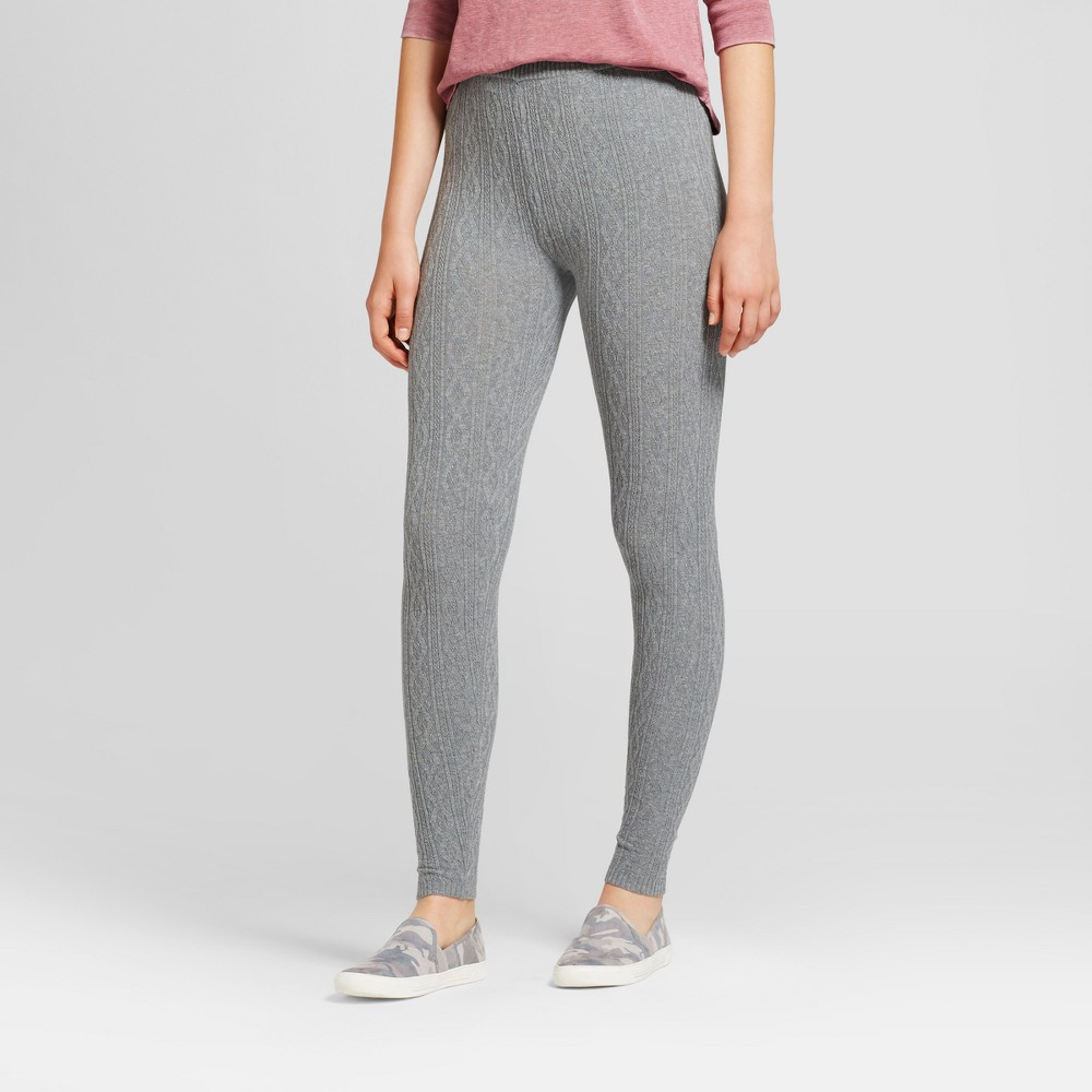 Womens Cable Sweater Leggings - Mossimo Supply Co. Gray M