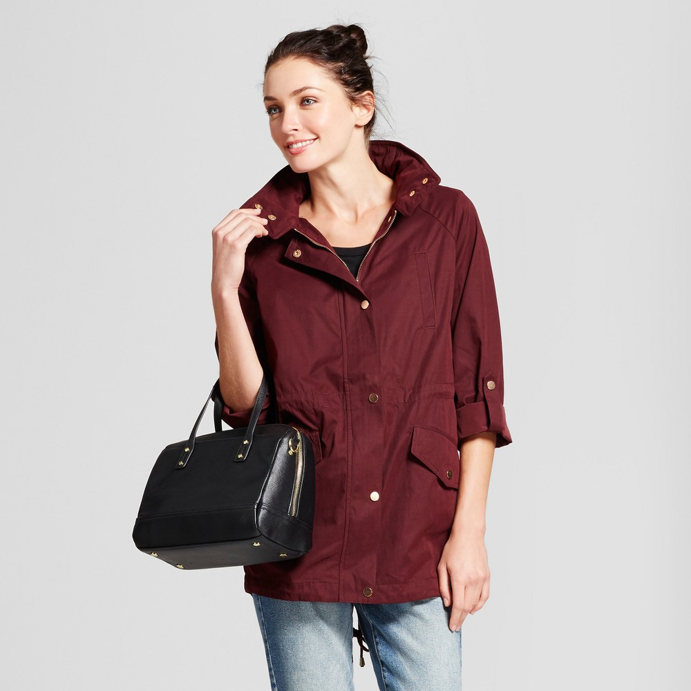 Womens Anorak Jacket - A New Day Maroon (Red) L