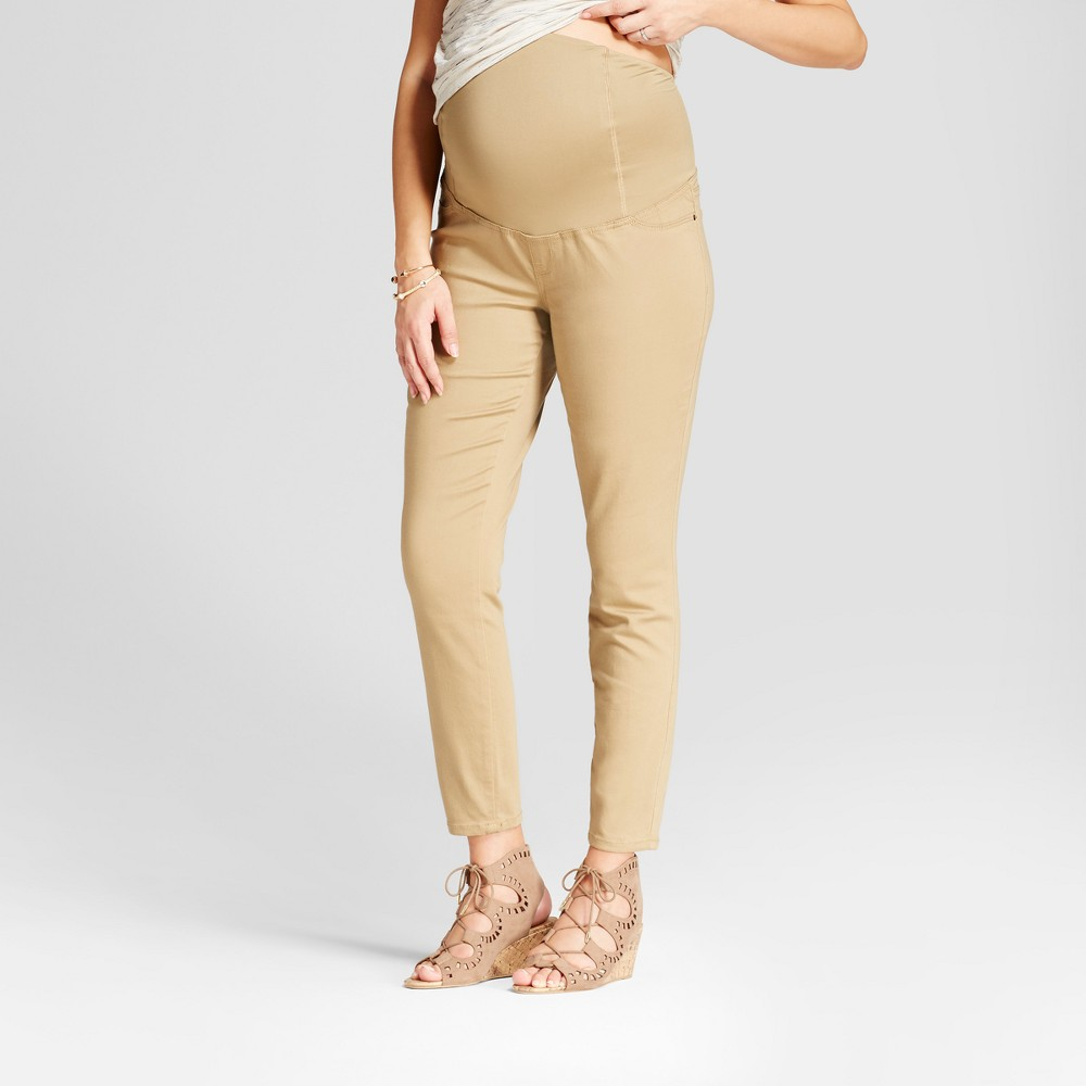 Maternity Crossover Panel Jeggings - Isabel Maternity by Ingrid & Isabel Khaki 14, Womens, Beige