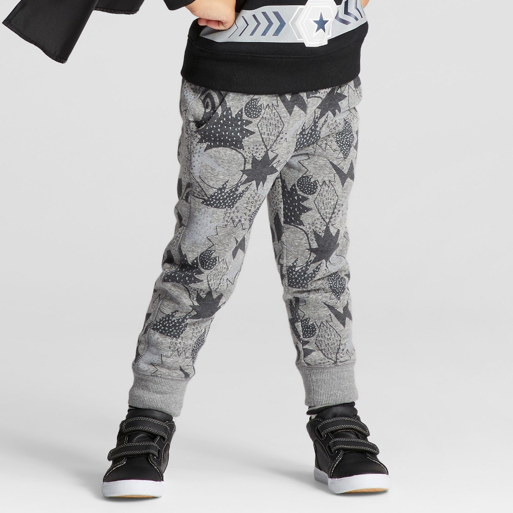 Toddler Boys Jogger Pants - Cat & Jack Gray 3T