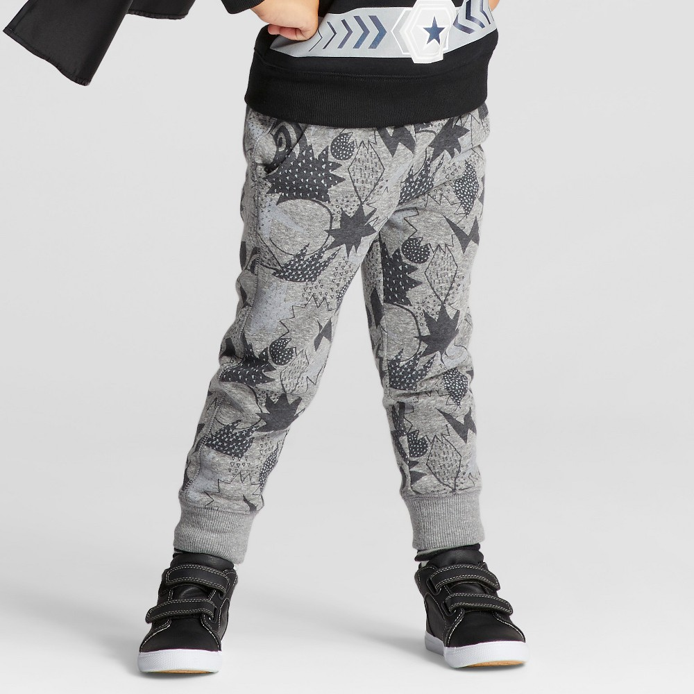 Toddler Boys Jogger Pants - Cat & Jack Gray 5T