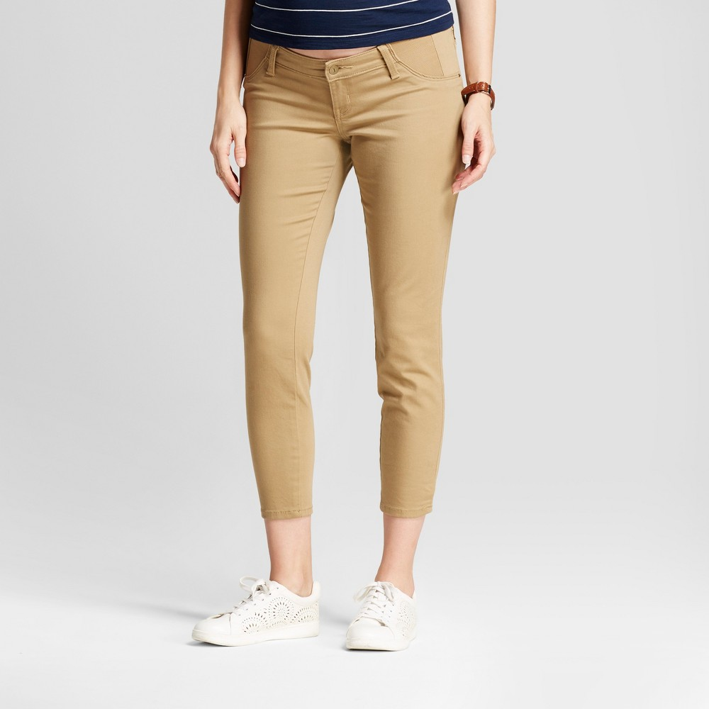 Maternity Inset Panel Jeggings - Isabel Maternity by Ingrid & Isabel Khaki 4, Womens, Beige