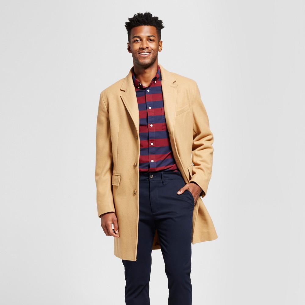 Mens Wool Top Coat - Goodfellow & Co Camel L