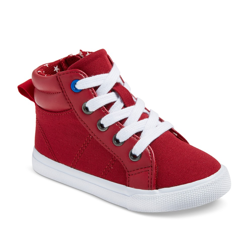 Toddler Boys Hardy Mid Top Canvas Sneakers 5 - Cat & Jack - Red