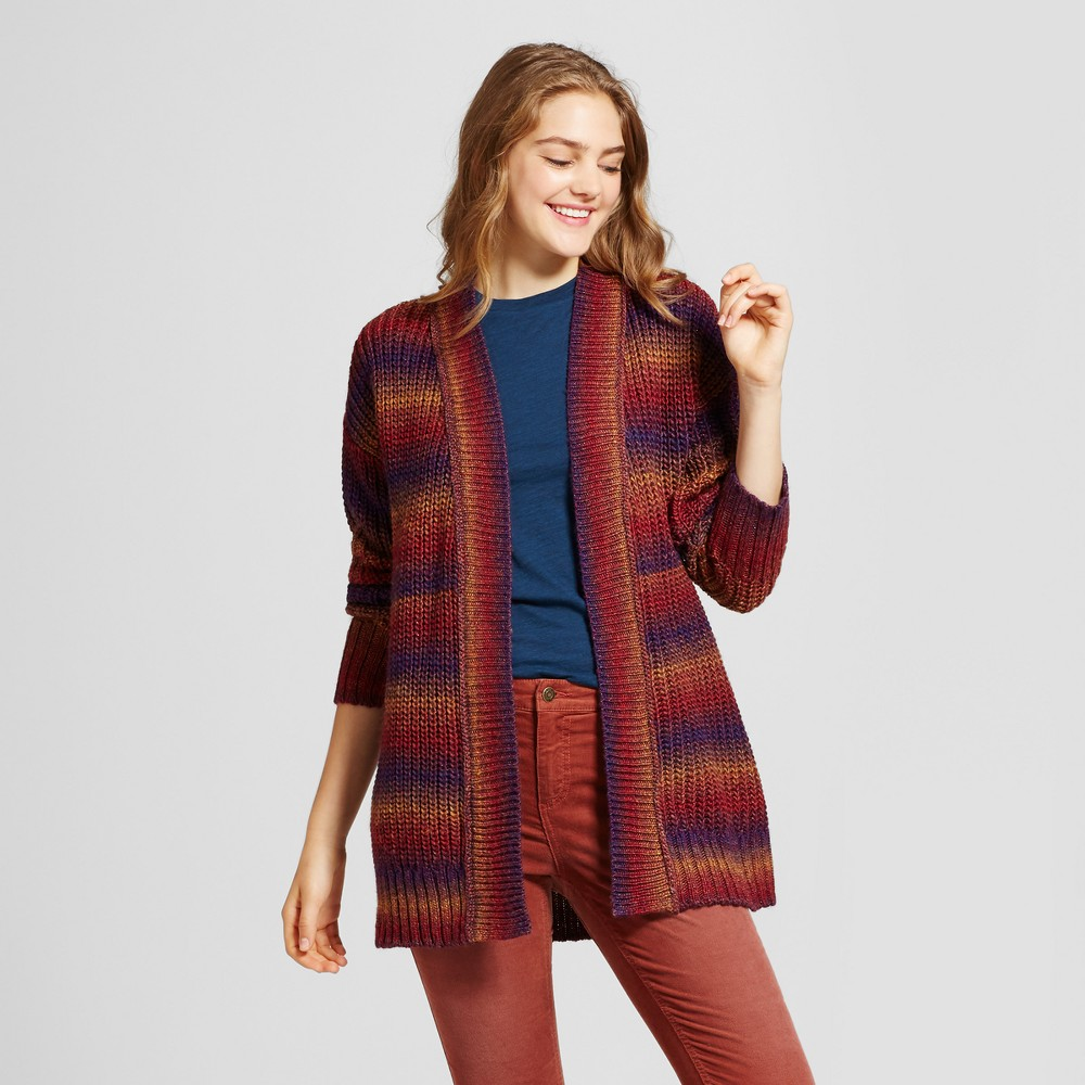 Womens Variegated Cardigan - Mossimo Supply Co. Burgundy M, Multicolored