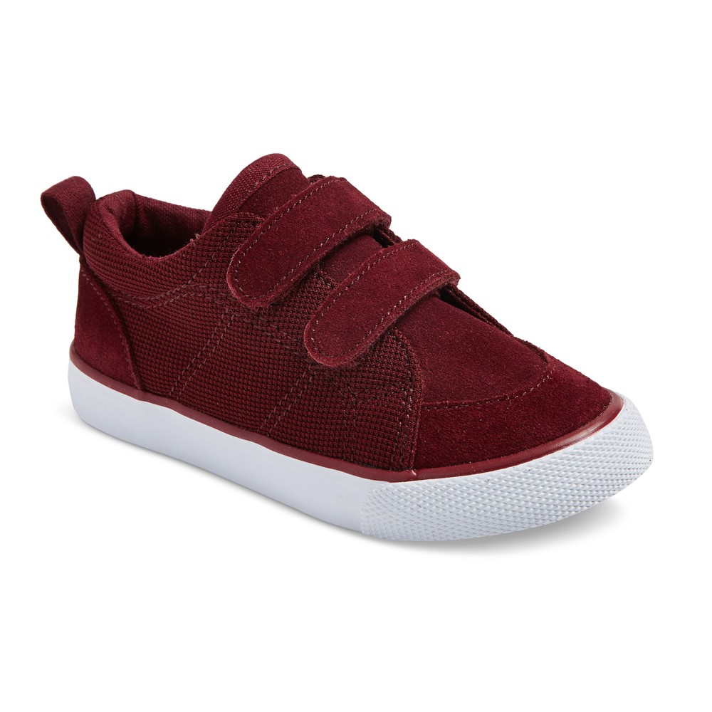 Toddler Boys Diedre Bump Suede Sneakers 10 - Cat & Jack Burgundy, Burgandy