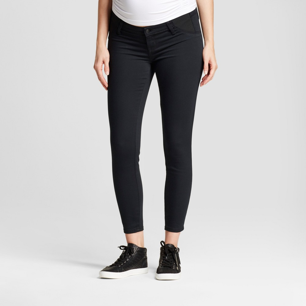 Maternity Inset Panel Jeggings - Isabel Maternity by Ingrid & Isabel Black Rinse 14, Womens