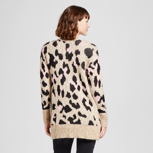 Women's Leopard Print Cardigan - Mossimo Supply Co.™ Tan : Target