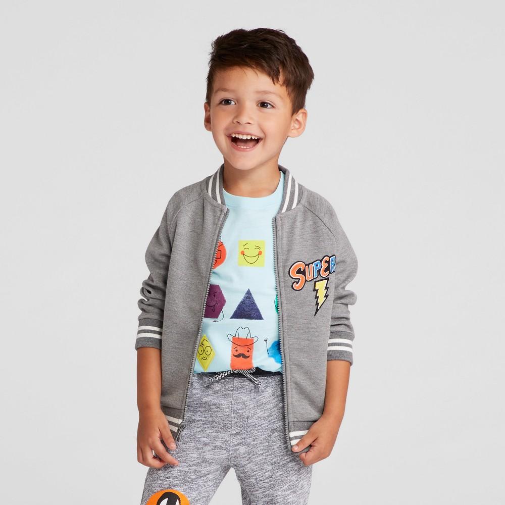 Toddler Boys Varsity Hero Bomber Jacket - Cat & Jack Gray 4T