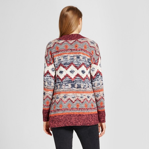 Women's Patterned Cardigan - Mossimo Supply Co.™ Burgundy : Target