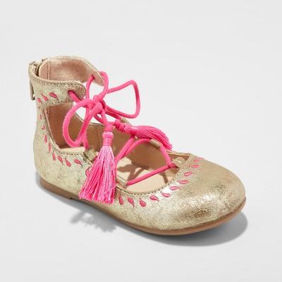 Toddler Girls' Genuine Kids from Oshkosh Trinity Ballet Flats 6 - Gold