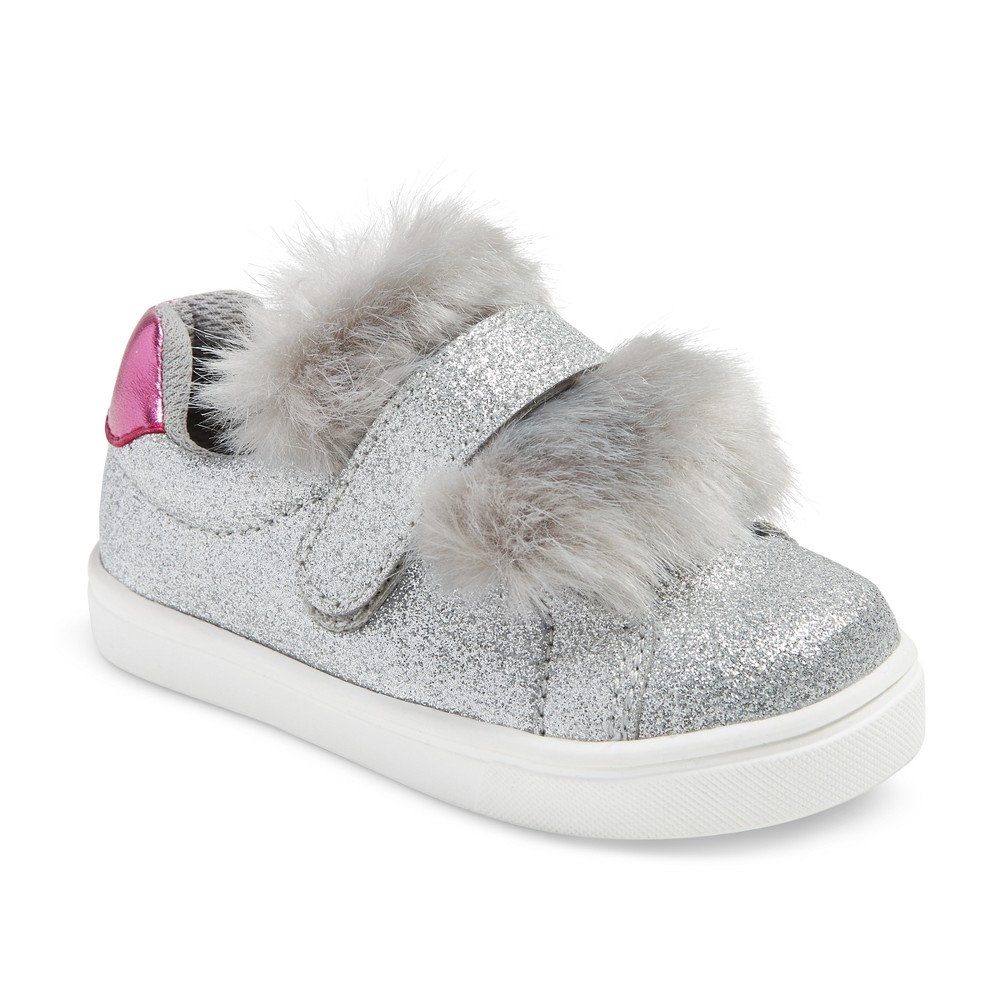 Toddler Girls Tristan Single Strap Velcro Sneakers 11 - Cat & Jack - Silver