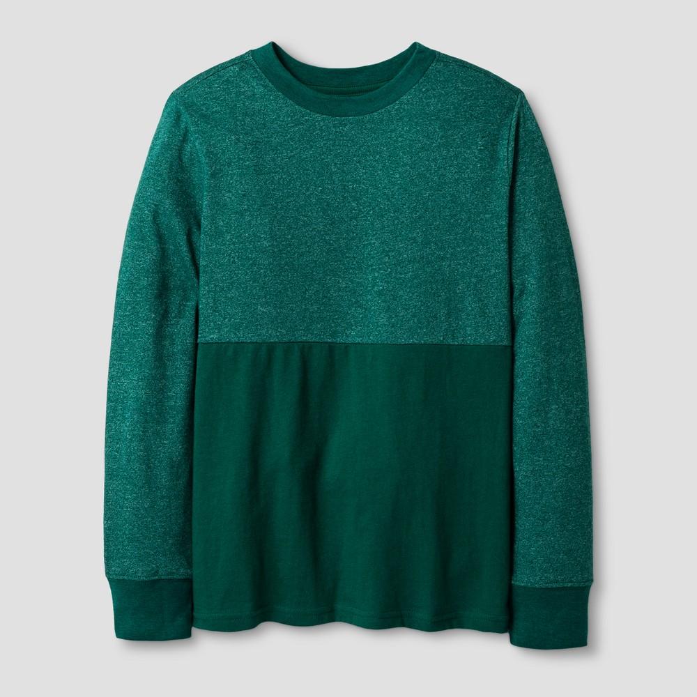 Boys Long Sleeve T-Shirt - Cat & Jack Green L