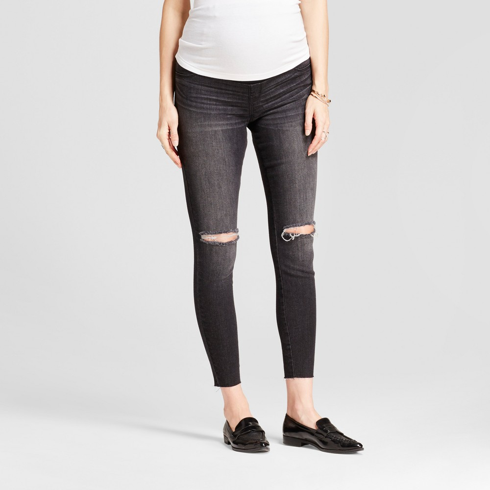 Maternity Crossover Panel Jeggings - Isabel Maternity by Ingrid & Isabel Black Wash 6, Womens
