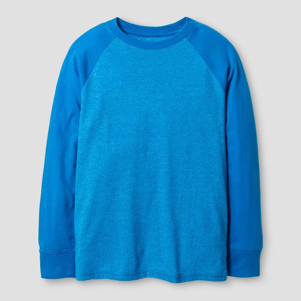 Boys Long Sleeve Baseball T-Shirt - Cat & Jack Blue XL