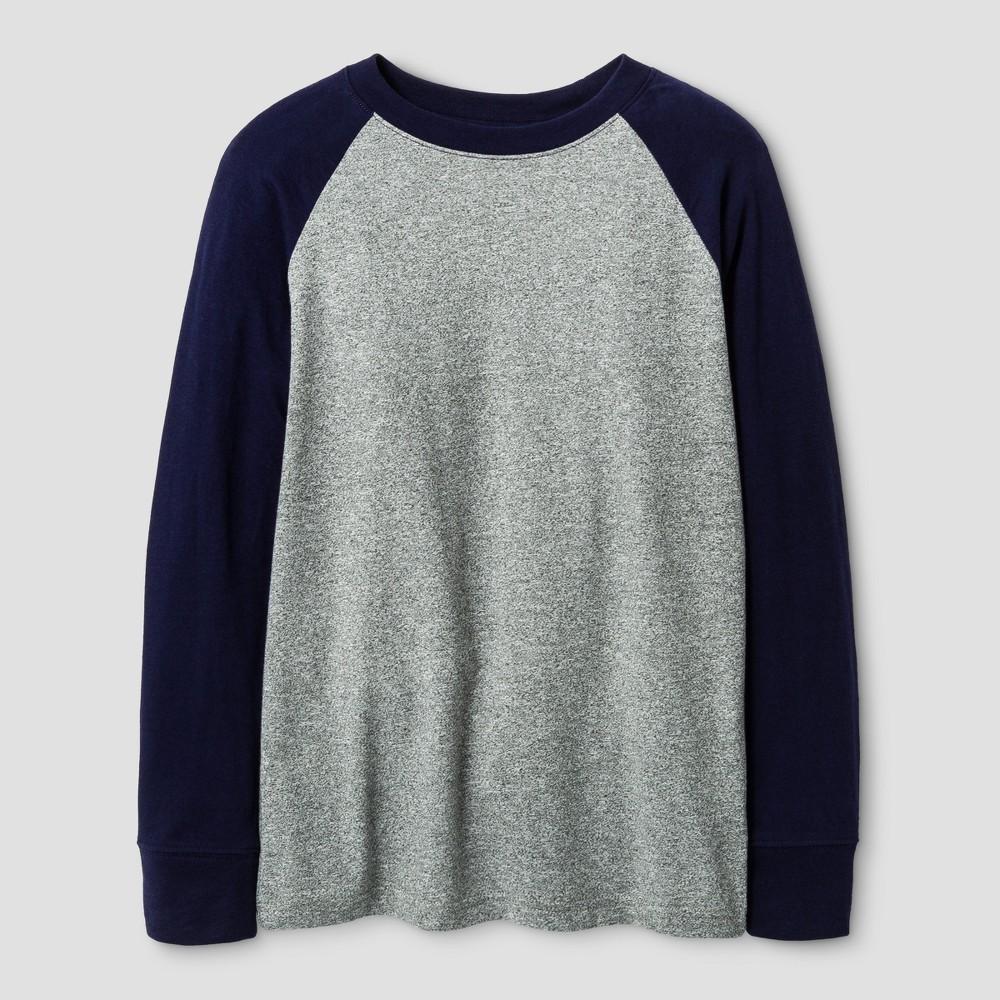 Boys Long Sleeve Baseball T-Shirt - Cat & Jack Navy S, Blue