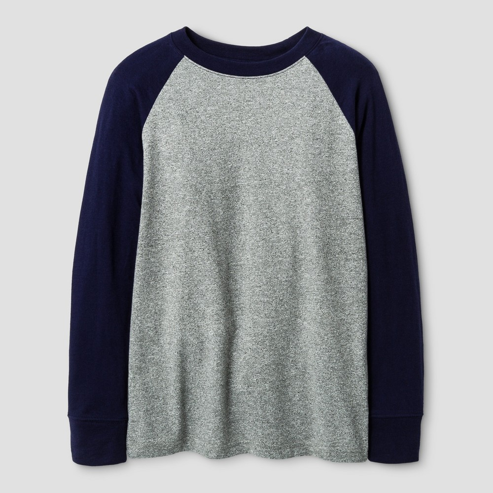 Boys Long Sleeve Baseball T-Shirt - Cat & Jack Navy M, Size: Large, Blue