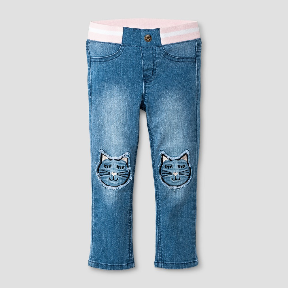Toddler Girls Skinny Jeans - Cat & Jack Medium Blue 2T