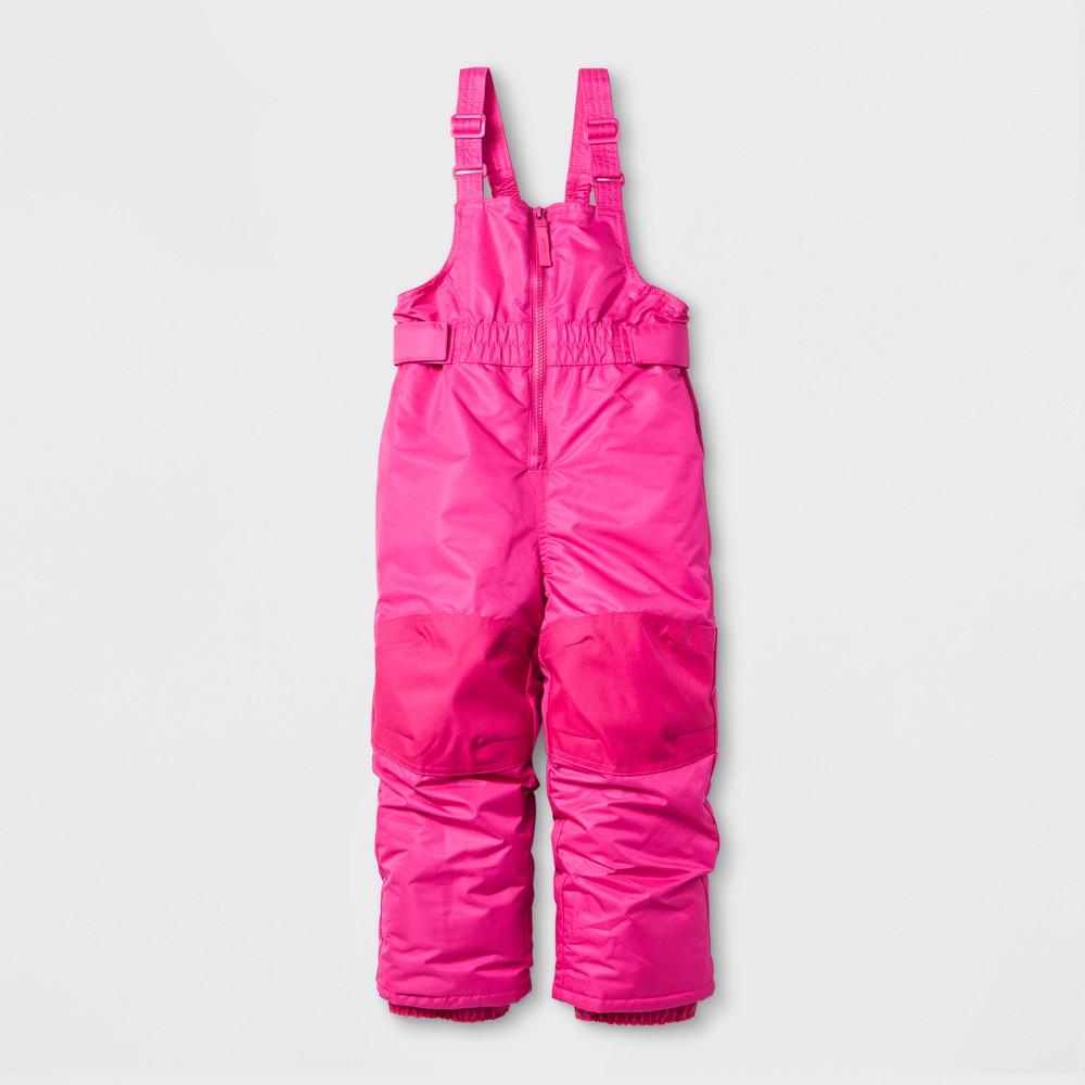 Toddler Girls Snow Bib - Cat & Jack Pink 4T