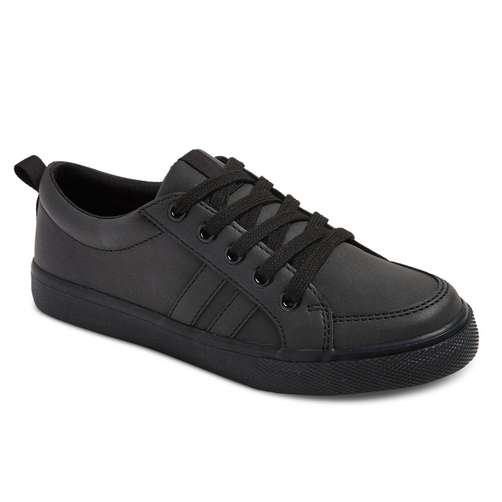 Boys Uniform Low Top Sneakers - Cat & Jack Black 4