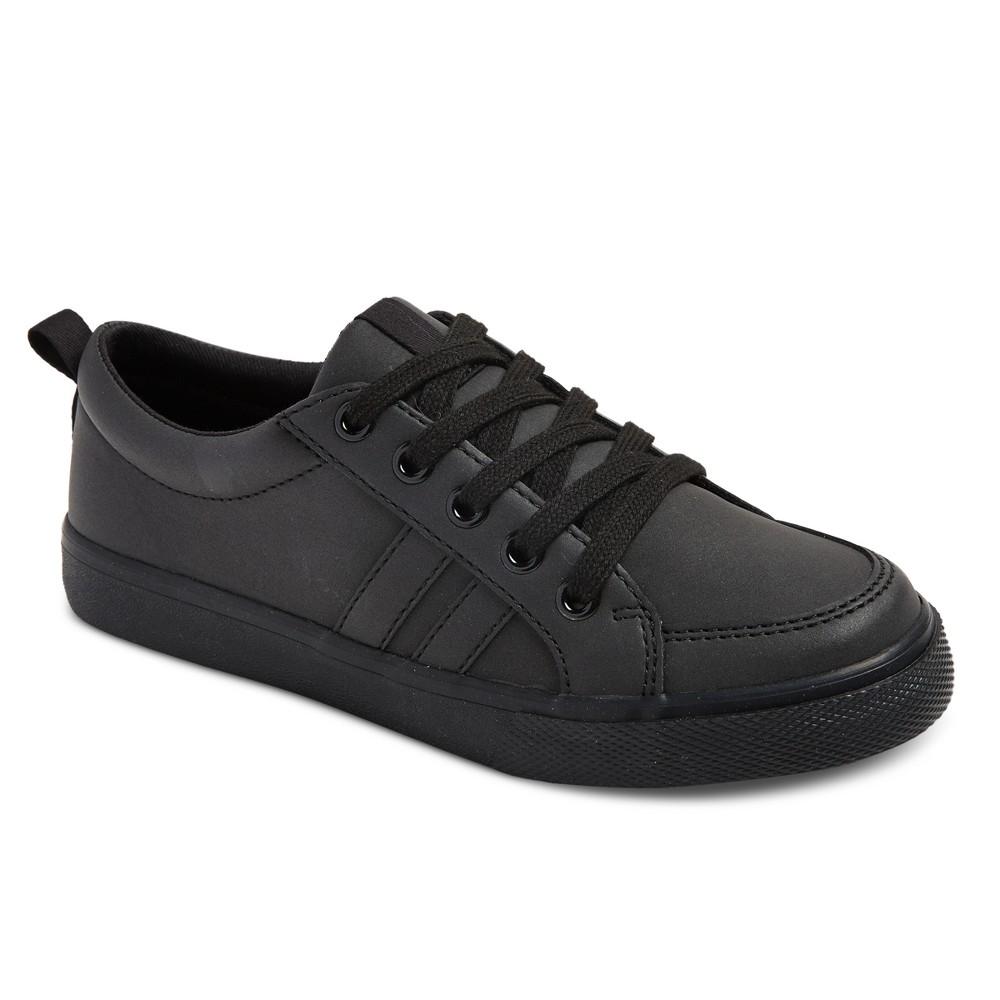 Boys Uniform Low Top Sneakers - Cat & Jack Black 6