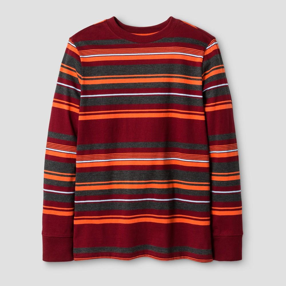 Boys Long Sleeve Stripe T-Shirt - Cat & Jack Red L