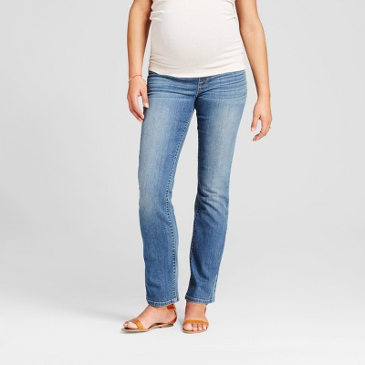 Maternity Crossover Panel® Bootcut Jeans - Isabel Maternity™ by Ingrid & Isabel® Medium Wash 4