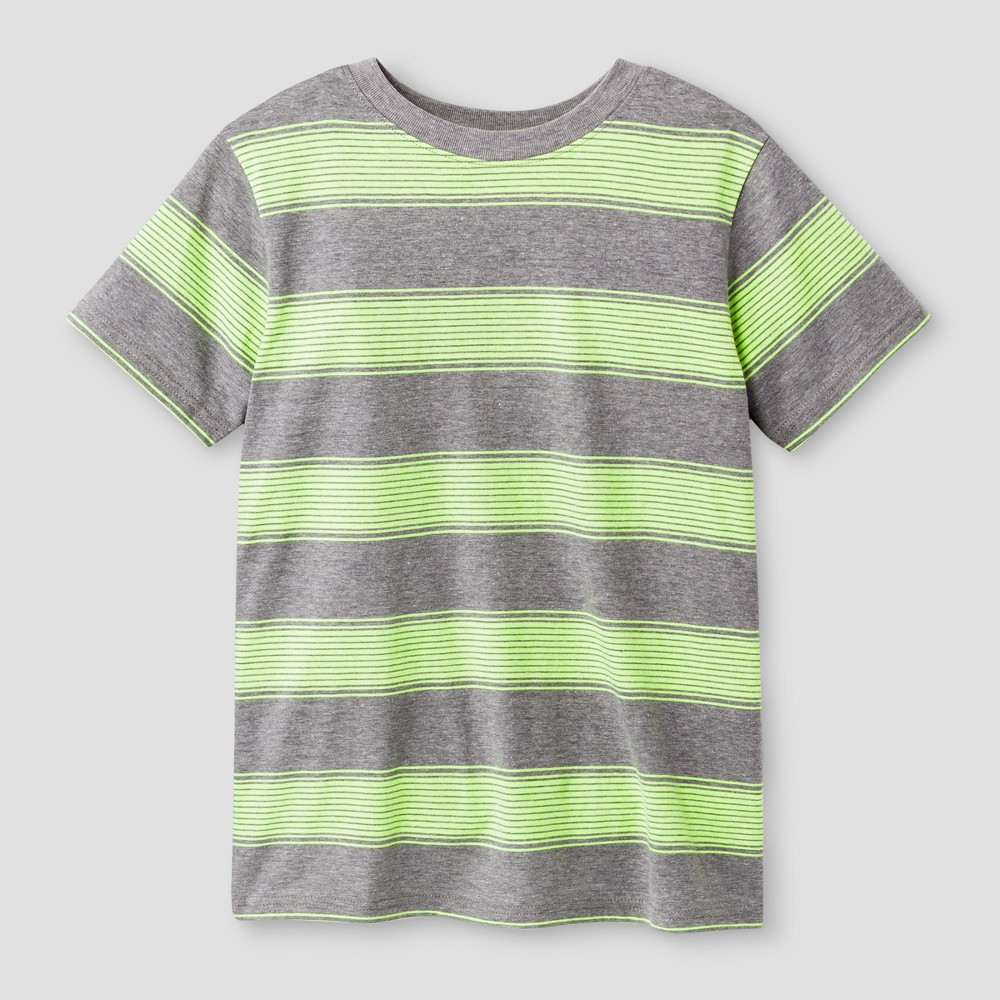 Boys Short Sleeve Stripe T-Shirt - Cat & Jack Green XL, Yellow