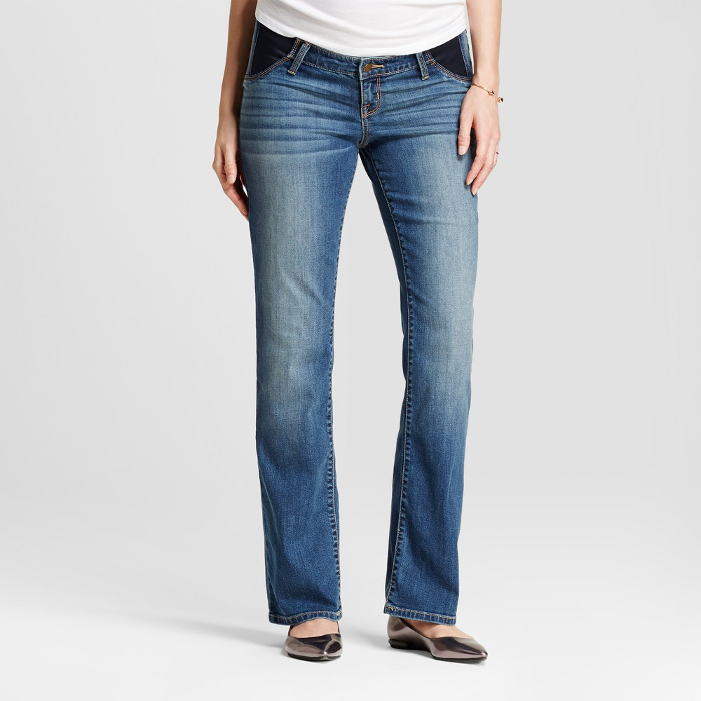 Maternity Inset Panel Bootcut Jeans - Isabel Maternity by Ingrid & Isabel Medium Wash 12, Womens, Blue