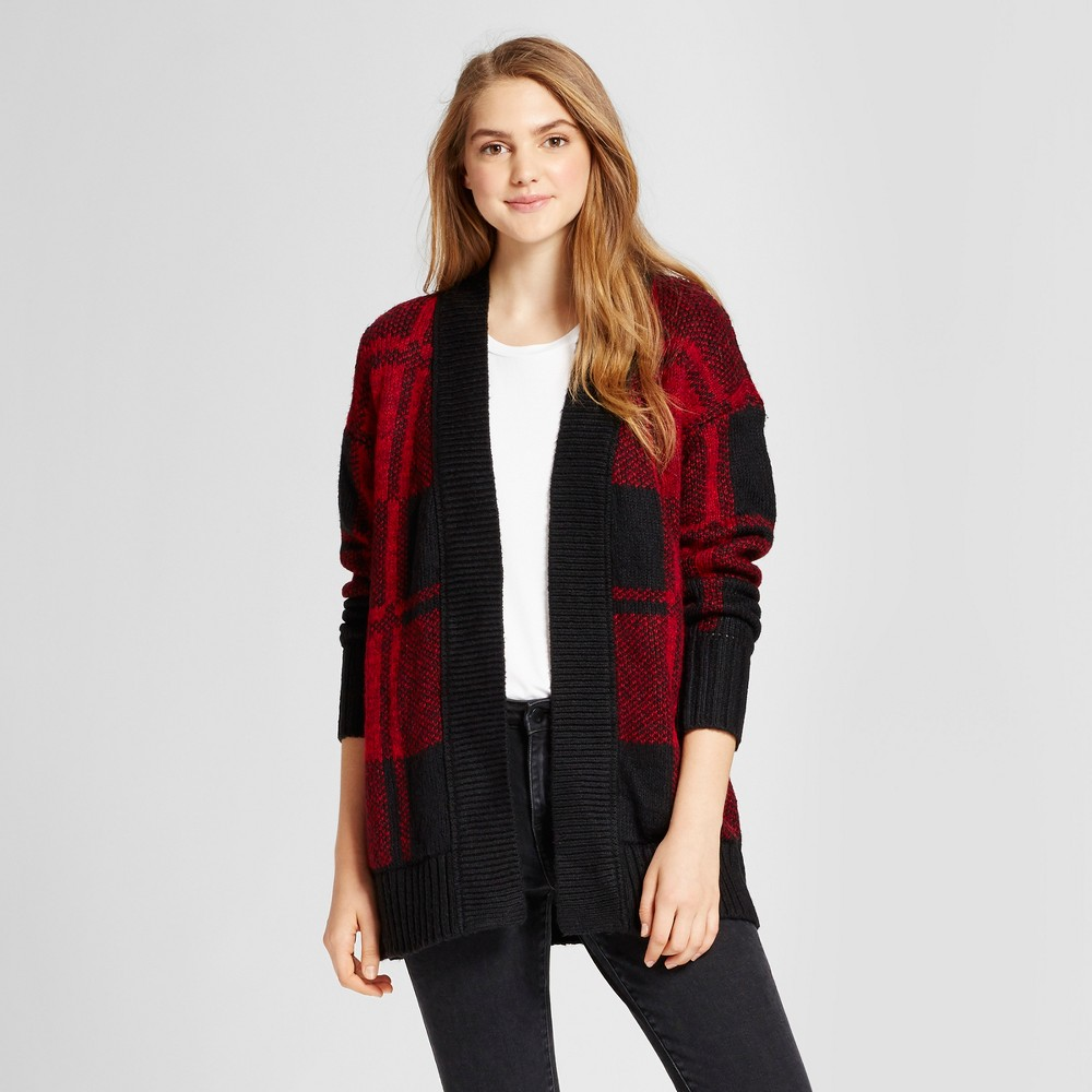 Womens Plaid Cardigan - Mossimo Supply Co. Red S