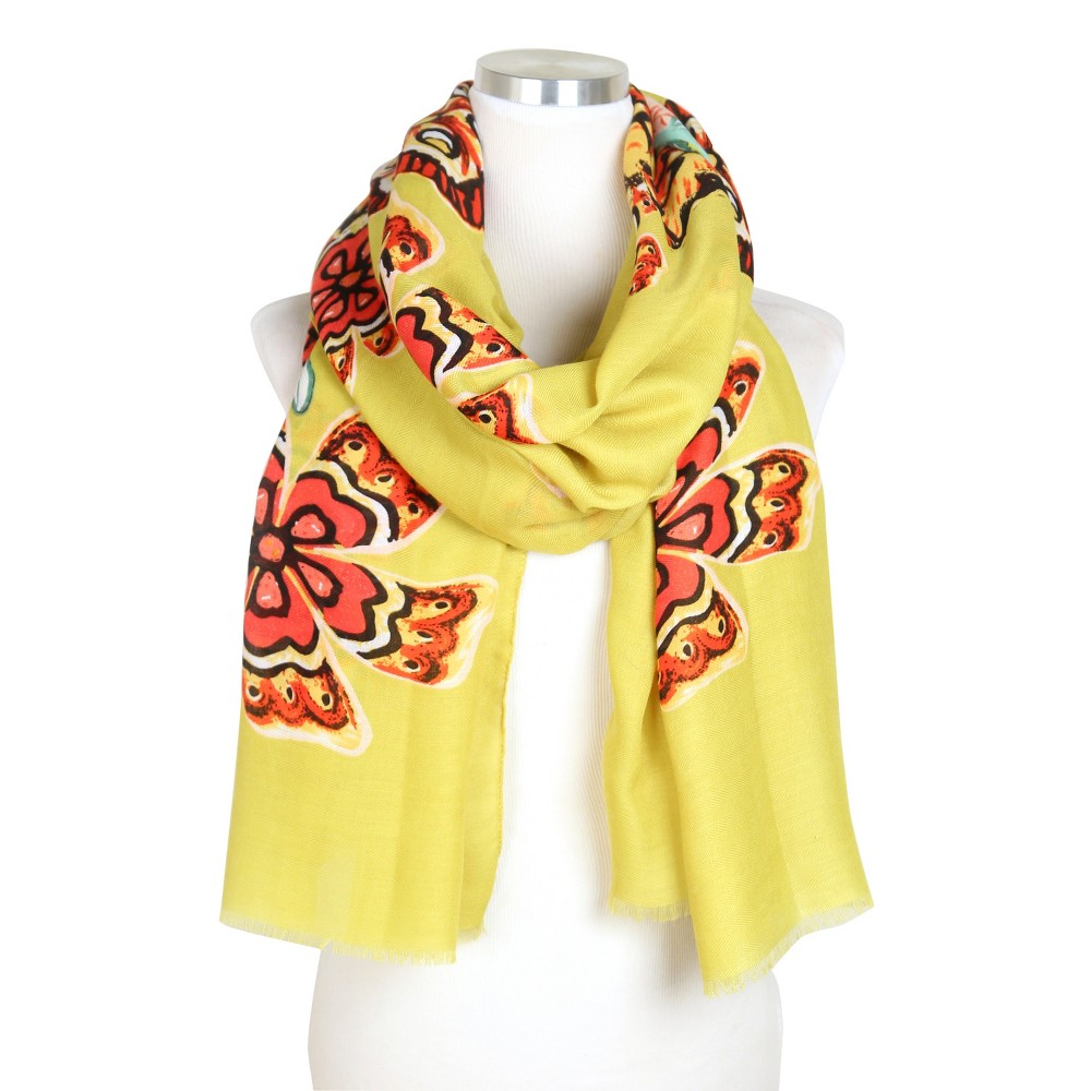 Do Everything In Love Flower Print Scarf - Mustard (Yellow), Womens