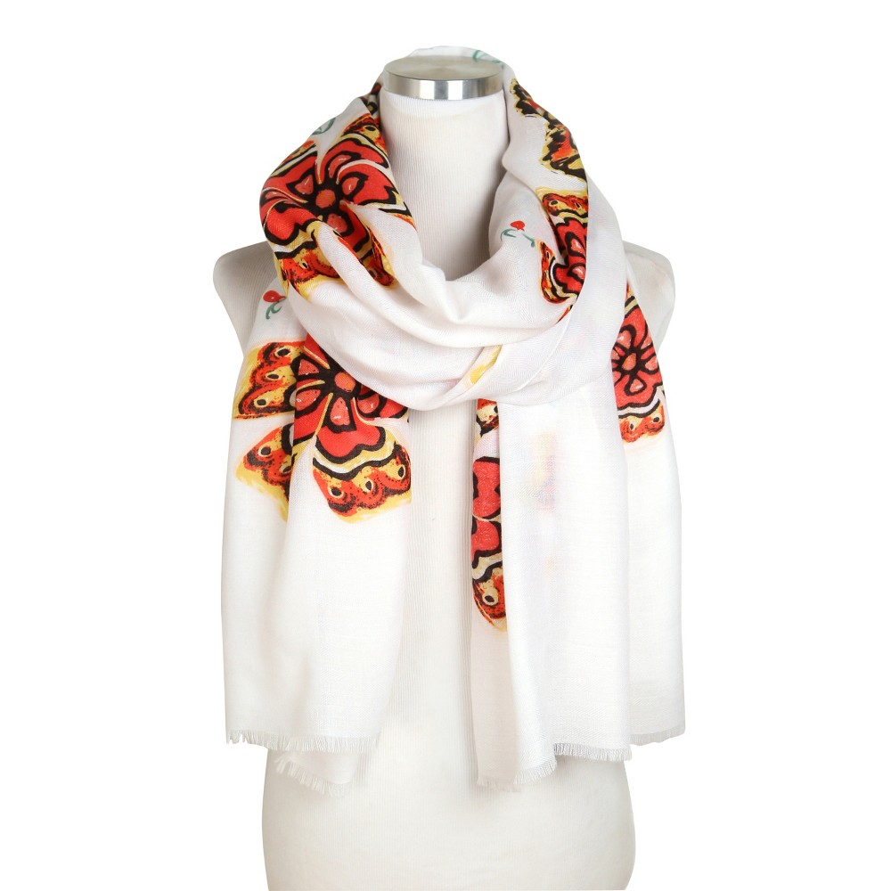 Do Everything In Love Flower Print Scarf - White, Womens