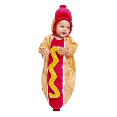 Baby Plush Hot Dog Bunting Costume - 0-6 Months - Hyde and Eek! Boutique™