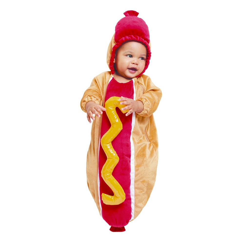Baby Plush Hot Dog Bunting Costume - 0-6 Months - Hyde and Eek! Boutique, Infant Unisex