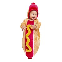 Hyde and Eek Boutique Baby Plush Hot Dog Bunting Costume (0-6 Months)