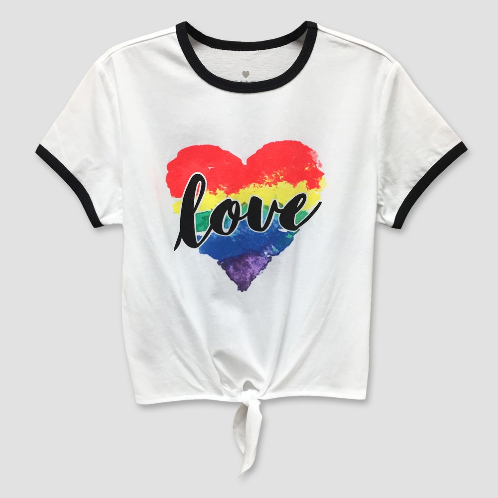 Pride Adult Love Wins Ringer T-Shirt White / Black 3X, Adult Unisex